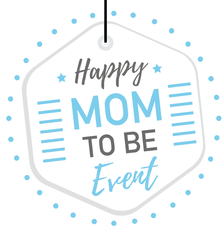 Happy mom to be event logo