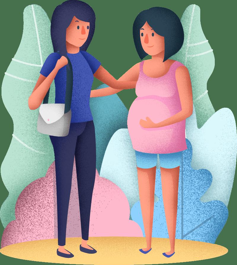 Zwanger dame met partner